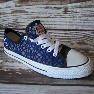Converse Shoes Blue Lace See Through Mesh 4 Youth